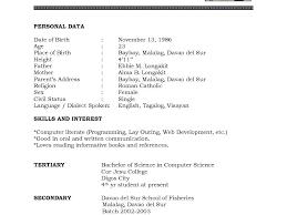 Sample Cv Student