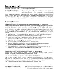 Resume Example Financial Sales Consultant Cover Letter Resume