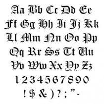 Tetování Písmo Vzor 7