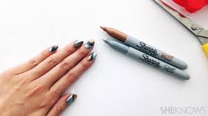 Cool office supplies Modern Crazy Cool Nail Art You Can Create With Common Office Supplies Tactacco Crazy Cool Nail Art You Can Create With Common Office Supplies