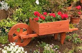 10 diy wooden wheelbarrow planter