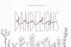 Script Designs Dandy Dandelions A Script Print Font Duo By Ka Designs