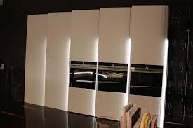 kitchen led strip lighting. White Kitchen Design With Built In Appliances And Led Under Cabinet Lighting Strip