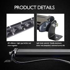 20in Cree Led Light Bar Single Row China Factory Price 20 Inch 90w Waterproof Super Bright