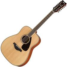 yamaha 12 string. yamaha fg820-12 12 string acoustic guitar - natural