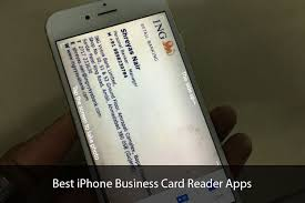 Card Scanner Best Iphone Business Card Reader Apps Develop Business By Managing