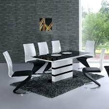 white table and 6 chairs white high gloss lacquer dining table