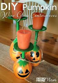 Pumpkin Wine Glass Candle Holder Centerpieces...these are the BEST Fall  Craft Ideas