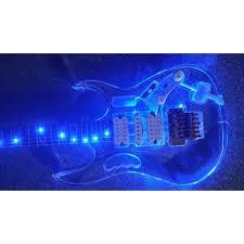 Plexiglass Light Custom Shop Crystal Blue Led Light Acrylic Plexiglass Electric Guitar