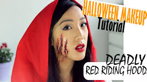 makeup tutorial scary red riding hood