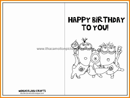Happy Birthday Card Printable Template Printable Birthday Cards Template Free Printables