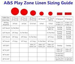 table linen al sizing info