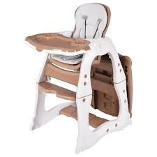 Costway 3 in 1 Baby High Chair Convertible Play Table Seat Booster Toddler Feeding Tray 0 Costway: