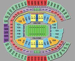 Elegant Falcons Stadium Seating Chart Michaelkorsph Me