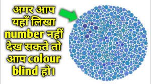 Colour Blindness Chart Colour Blindness Test Hindi Tyb 2017 Test Your Brain 2018