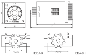 timer relay h3ba 8, 8h electronic time Solid State Time Delay Relay Wiring Diagram Time Delay Relay Symbol