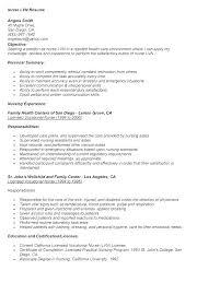 New Graduate Nurse Resume Examples Graduate Nurse Resume Objective ...