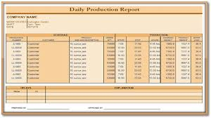 Daily Production Report Format Apache Openoffice Templates
