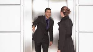 holding the door in the lift is just basic courtesy surely you d do