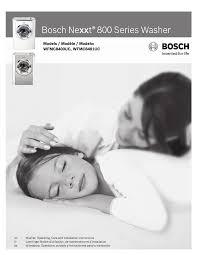 bosch 800 series washer. Bosch 800 Series Washer I