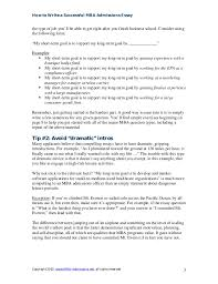 good mba school essays mba sample essays accepted