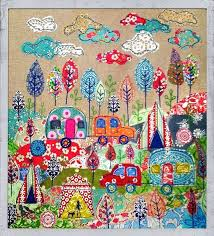 Tuesdays Favorite Finds #12 Camping Quilts & Camping Quilt Textile Art by Lucy Levinson Adamdwight.com