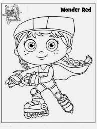 Small Picture Interesting Collection of Super Why Coloring Pages New Coloring