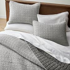 grey belgian flax linen quilts and