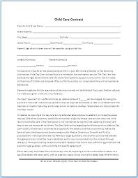 Daycare Contract Template Free Simple Daycare Contract Template Forms Free Printable In