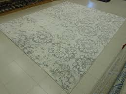 clean bamboo silk rug after 2