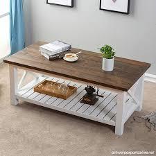 hpmm wood rustic coffee table farmhouse