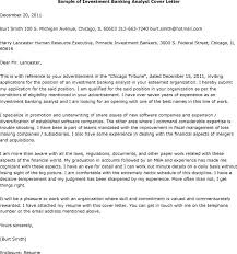 Cover Letter For Investment Banking Position Site Image Investment