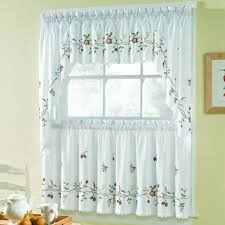 ... Sears Kitchen Curtains Modern Cafe Curtains White Lace Valance And Half  Window Curtains With ...