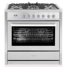 commercial style 36 in 3 8 cu ft single oven dual fuel range