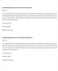 Letter Receipt Of Payment Template Modelf Info