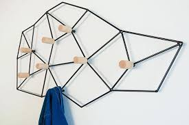 wall coat rack this geometric and modern wall mounted coat rack could easily pass as wall