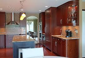 modern cherry kitchen cabinets. Contemporary Kitchen Cherry Modern Cabinets A