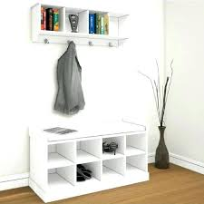 Hall Storage Bench And Coat Rack Incredible Hallway Storage Bench For Shoes Full Image A Long Narrow 1