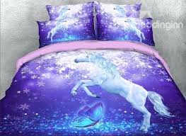 full size of winsome purple unicorn printed cotton all season 4 piece bedding toddler bedroom set