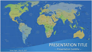 Free World Map Powerpoint Sagefox Templates With Powerpoint