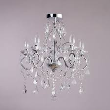 nice bathroom chandeliers crystal vara 5 light bathroom chandelier