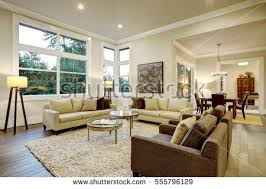light living room furniture. Chic Light Living Room Design With Dark Floors. Furnished Glass Top Accent Tables And Furniture