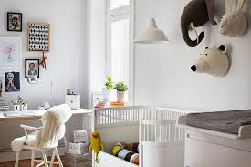 home office work room furniture scandinavian. Home Office With Nursery Is A Practical Idea For Working Parents Work Room Furniture Scandinavian