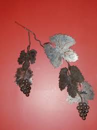 grapevine on metal grape vine wall art with estrada metal art grapevine