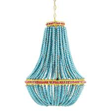 s l1600 s l1600 currey company look turquoise blue bead hedy anthropologie modern chandelier currey