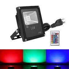 Outdoor Color Changing Led Lights Us 24 29 11 Off 10w Rgb Led Flood Lights Outdoor Color Changing Led Security Light 16 Colors 4 Modes With Remote Control Ip66 Waterproof Led In
