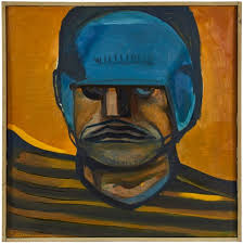artist rudolf nicolai 01 febuary 1918 schkeuditz 1998 niederdorfelden title rugby player 2 object painting made est between 1958 1962
