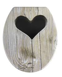 Rustic Toilet Seats Wenko Rustic Heart Novelty Toilet Seat