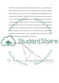 Project Management Network Diagram Essay Example Topics