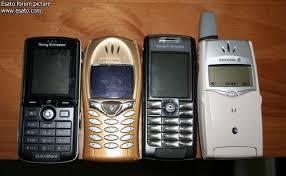 sony mobile. sony ericsson k750i (far left), se t68i (middle left) mobile